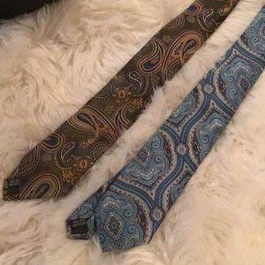 NWT Men's paisley neck ties
